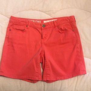 DKNY Coral Denim Shorts